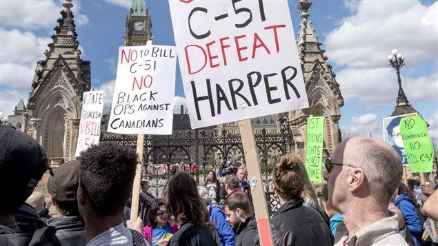 Manifestation contre la loi C-51