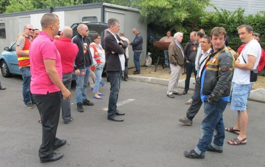 Au dépot des bus CIF de Tremblay-en-France