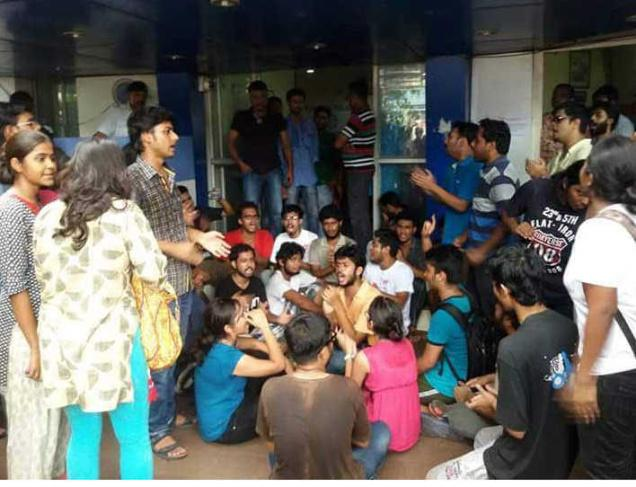 Mobilisation d'étudiants de la Jadavpur University