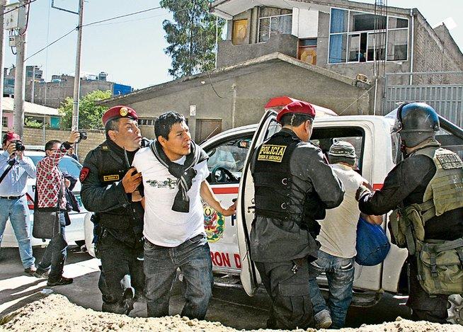 Arrestations à Huancayo