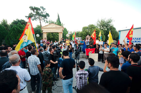 Manifestation à Erbil contre le PDK.