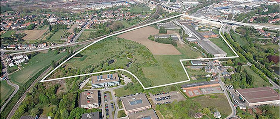 Le lieu de construction de la maxi-prison de Haren.