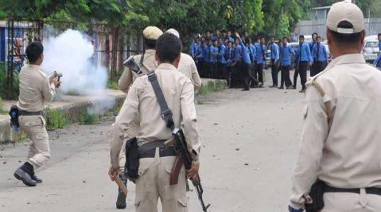 Répression des manifestations étudiantes à Manipur