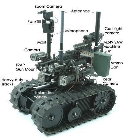Un prototype de robot militaire