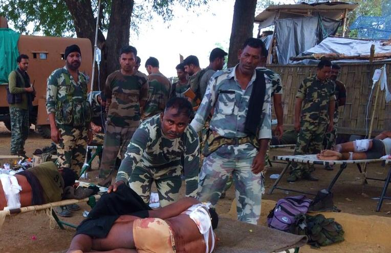 Un militaire blessé à Chhattisgarh.