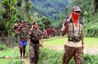 Colonne de guérilleros maoïstes dans le Jharkhand
