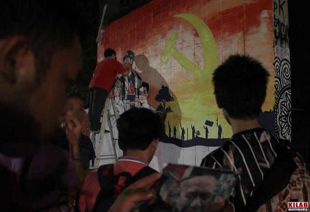 Une fresque a été réalisée hier à Davao City en hommage au commandant de la NPA Leoncio Pitao, alias