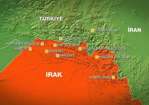 Camps du PKK en Irak bombardés par la Turquie, juillet 2015.