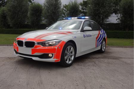 Une des nouvelles BMW de la police fédérale