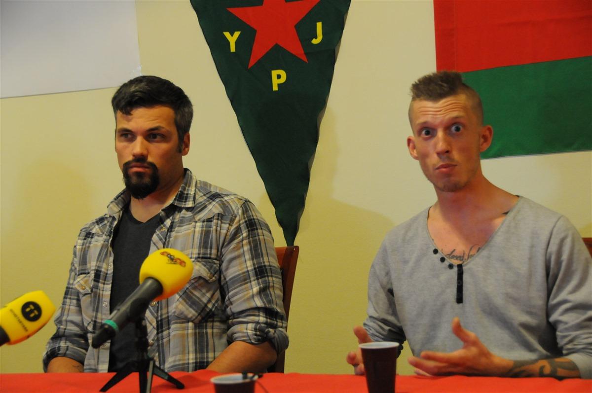 Combattants internationaux des YPG.
