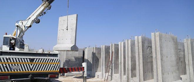 Le chantier de construction du mur à Hatay