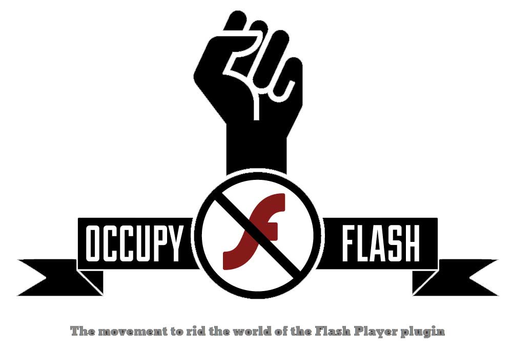 Le site 'Occupy Flash' promeut l'abandon d'Adobe Flash.