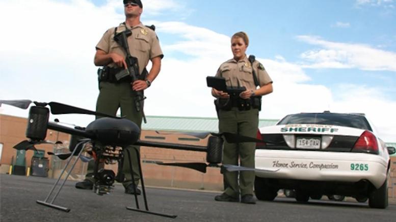 Drône policier américain.