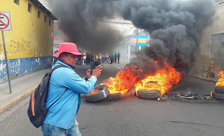 Incidents à Comayagüela