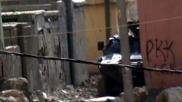 Un blindé de la police turque à Silopi.
