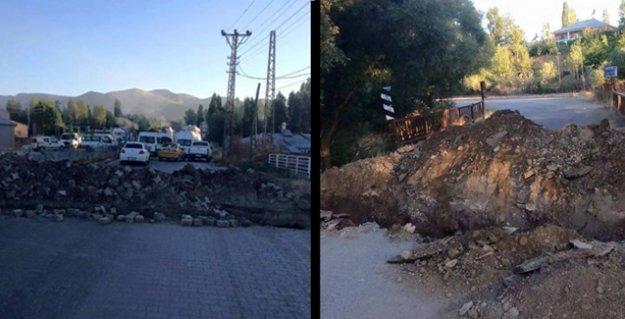 Barricades et tranchées à Varto