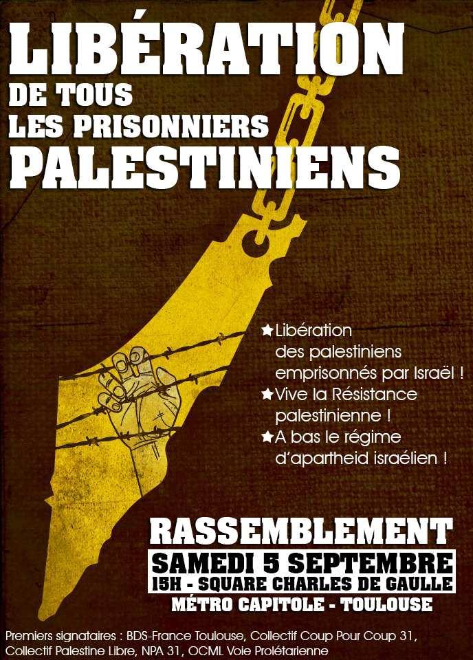 Manifestation pour les prisonniers palestiniens.