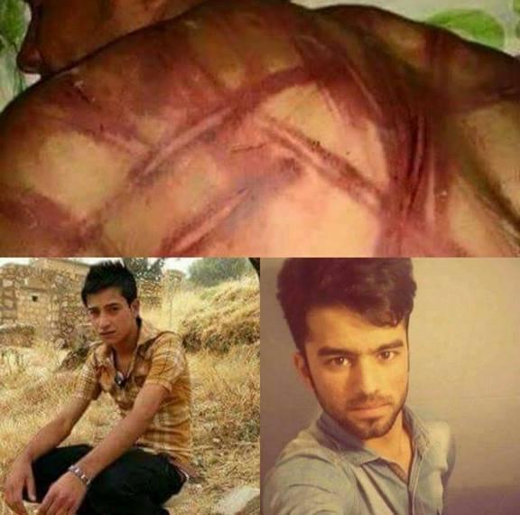 Les deux jeunes militants torturés par Parastin.