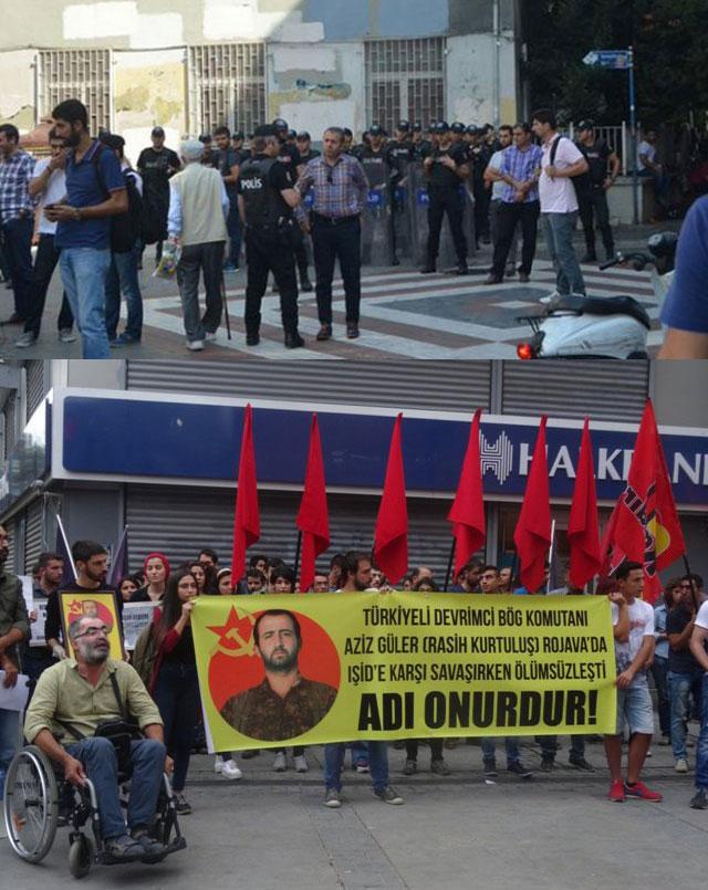 La police attaque la commémoration à Istanbul.