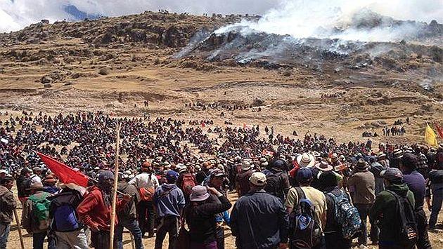 Manifestants à Las Bambas