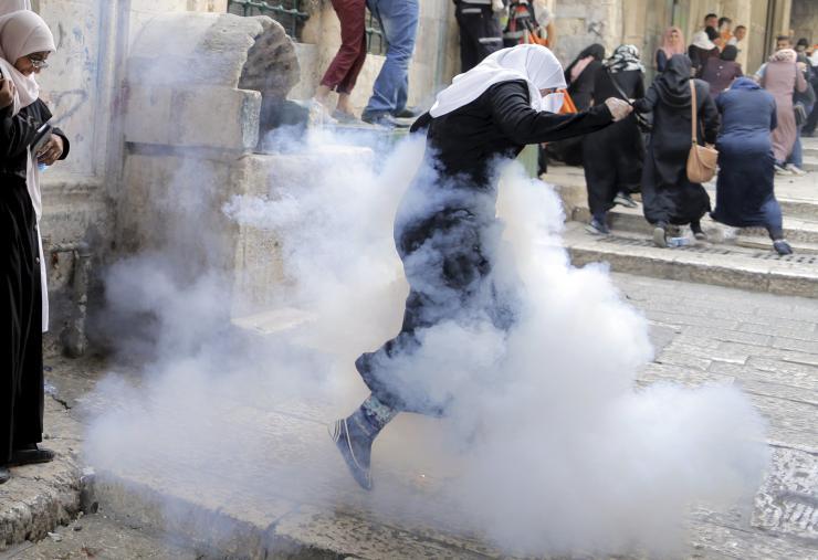 Tir de gaz à Jerusalem la semaine passée