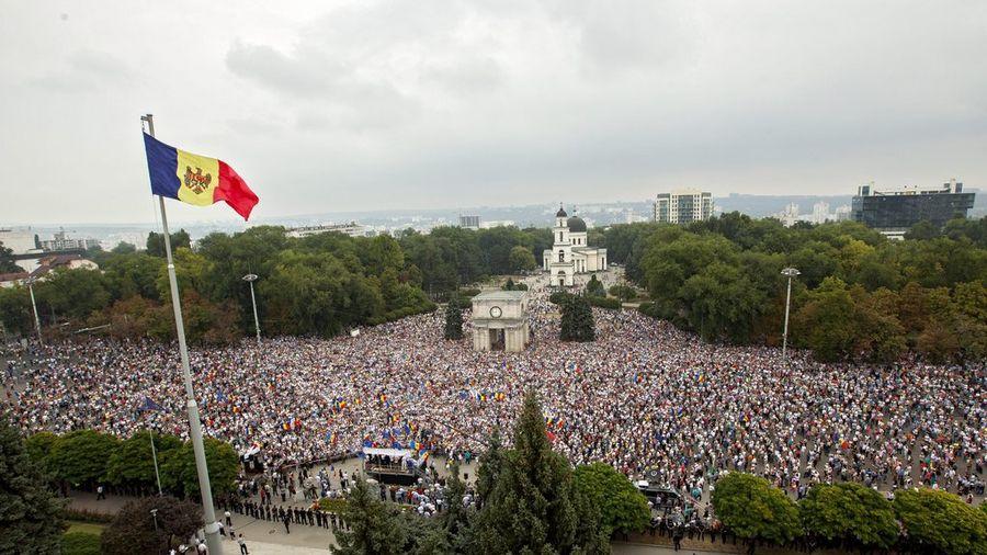 La manifestation de Chisinau (Kichinev)