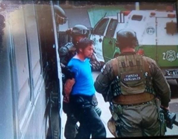 L'arrestation de Cristian Levinao