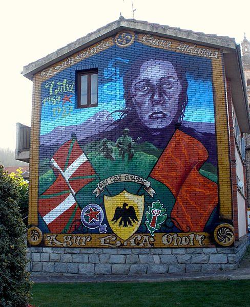 Une fresque en l'honneur de Luzia Urigoitia Ajuria