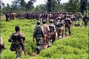 Colonne de guérilleros dans le district de Sukma