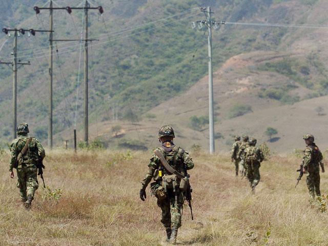 Opération antiguérilla en Colombie