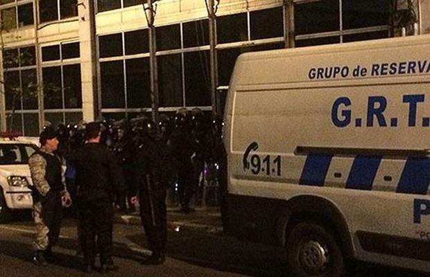 L'opération policière à Montevideo