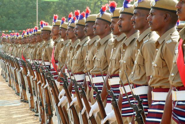 Membres de la police du Bihar