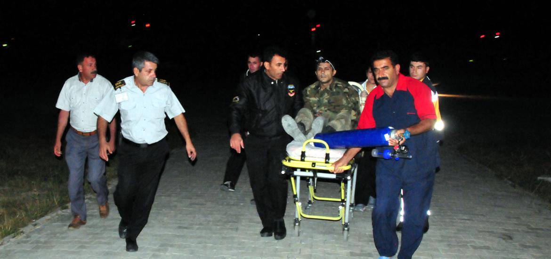 Un des blessés transféré à l'hôpital de Van