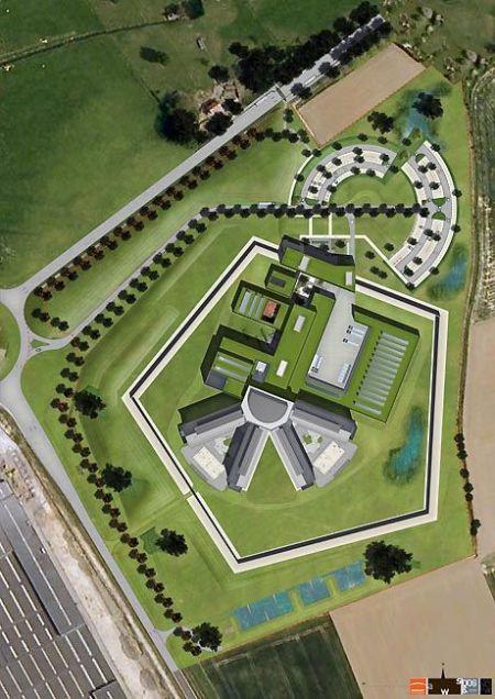 La prison de Leuze-en-Hainaut