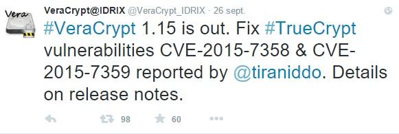 Les failles ont été patchées par Veracrypt.