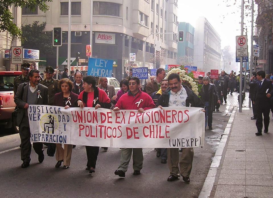 Manifestation de l'Unión de Ex Prisioneros Políticos de Chile