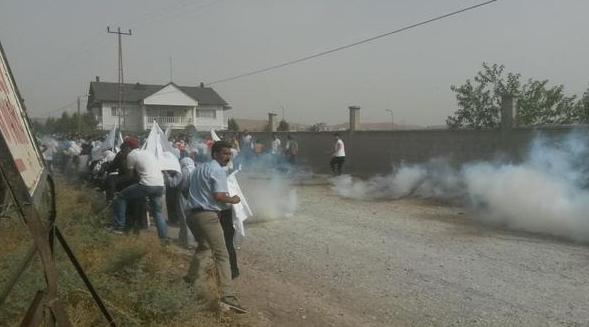 Les premiers manifestants arrivés à Cizre cet après-midi