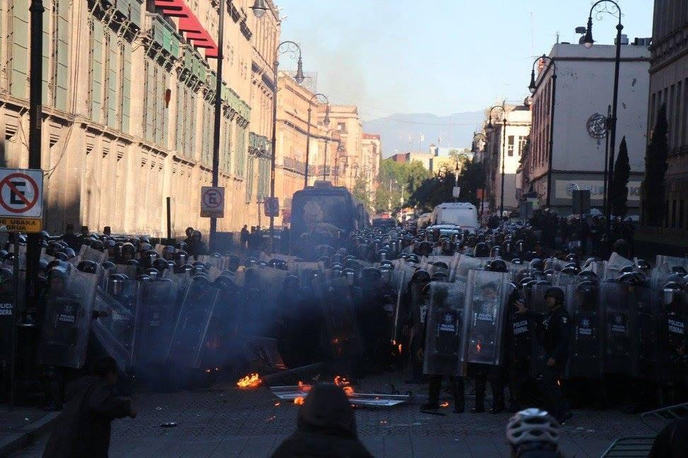 Déploiement policier à Mexico City