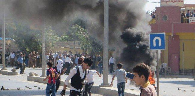 Manifestation à Kalar.