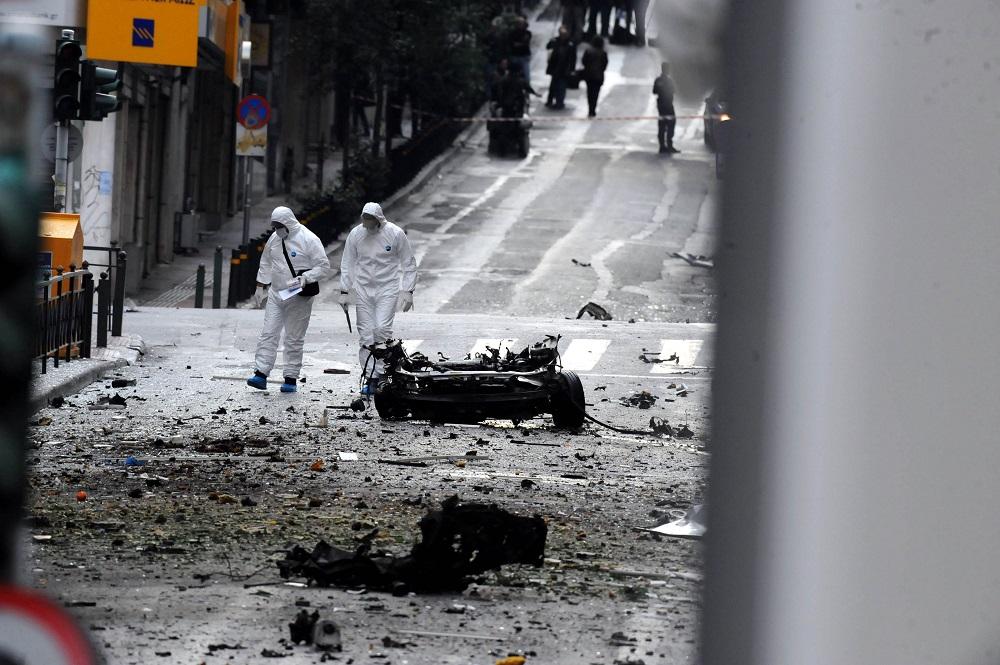 L'attaque de la Banque de Grèce, Rue Amerikis
