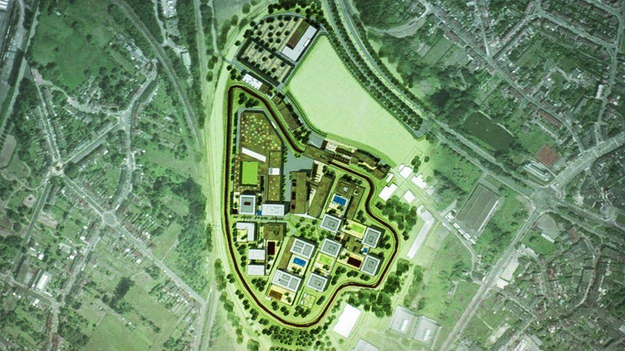 La future prison de Haren