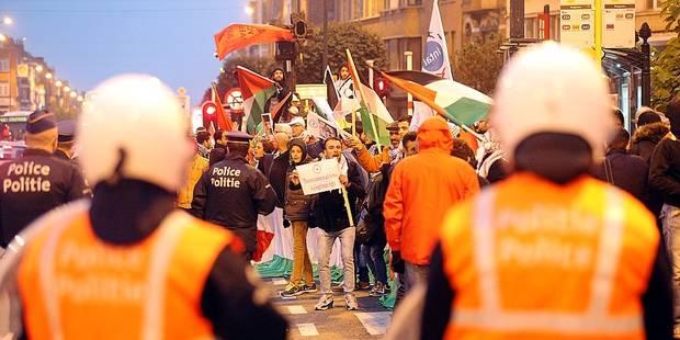 Manifestation au match Belgique-Israël