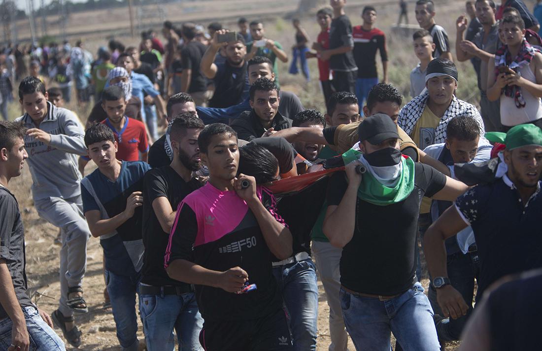 Une victime des tirs israéliens ce vendredi à Gaza