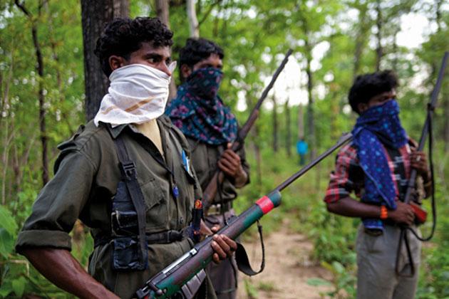 Guérilleros naxalites dans le Chhattisgarh