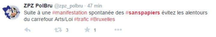 Sur Twitter, la police annonce une manifestation spontanée.