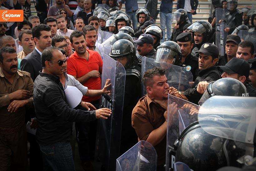 Affrontements à Sulaimani.