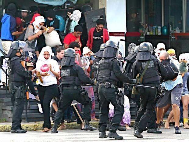 Intervention de la police à l'UFPE