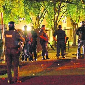 Intervention policière à l'University of KwaZulu-Natal