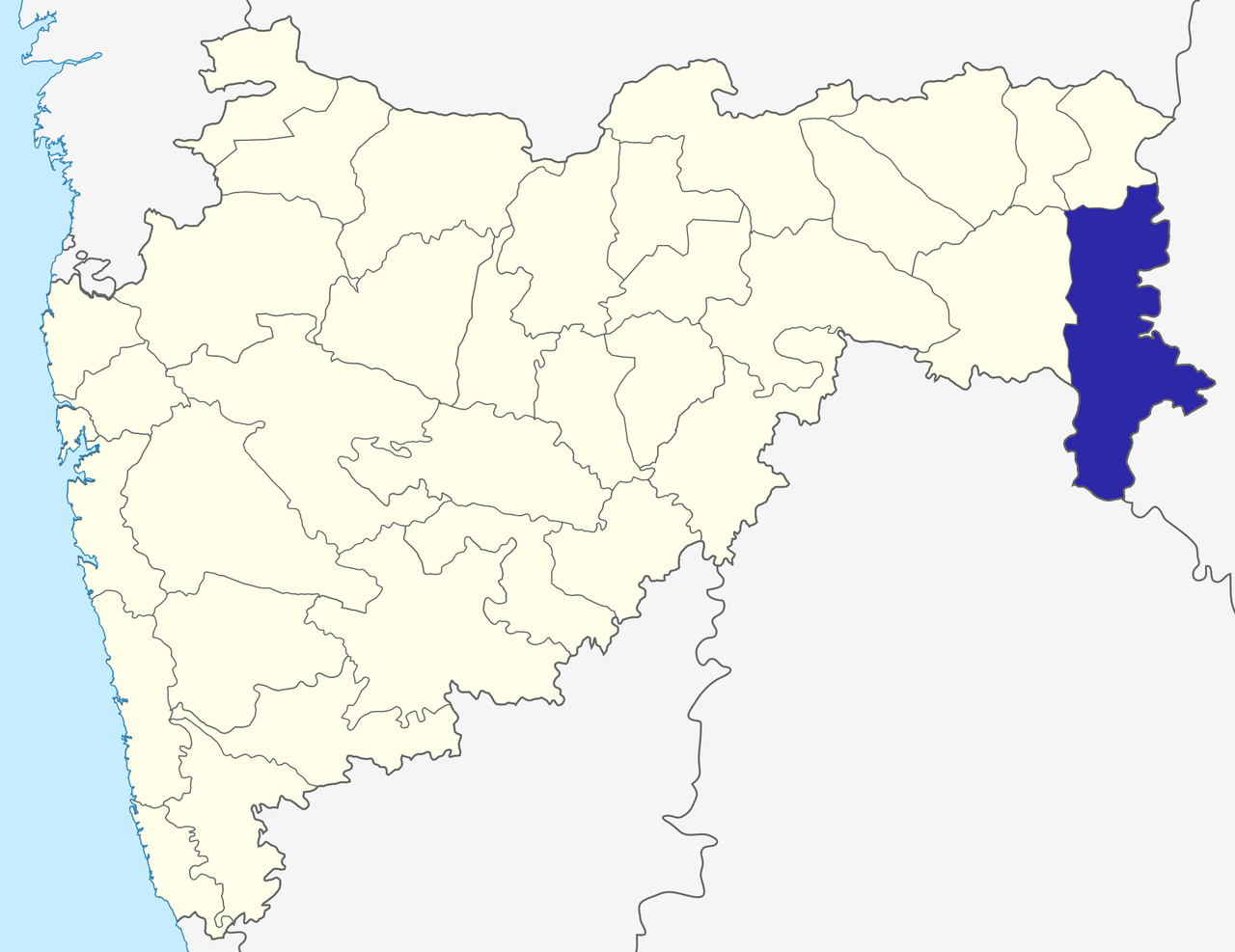 Gadchiroli, district à l'Est du Maharashtra
