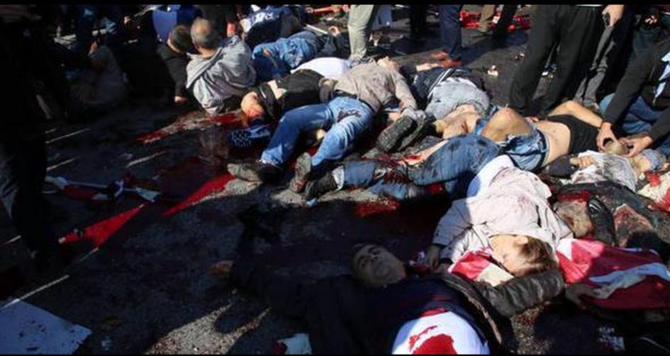 Un nouveau carnage contre la gauche turque et kurde à Ankara.